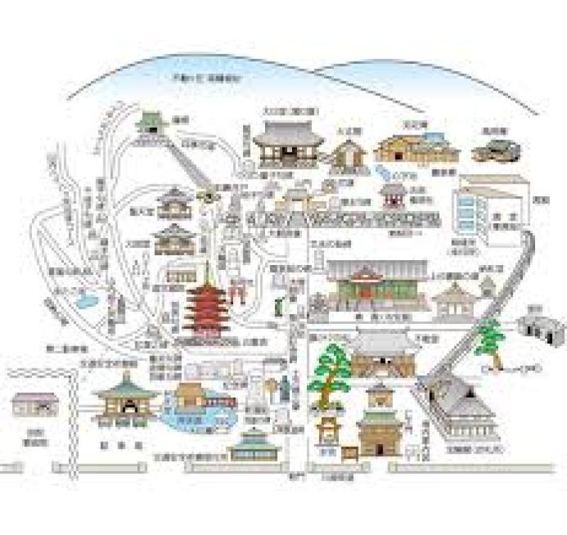 高幡不動尊の地図