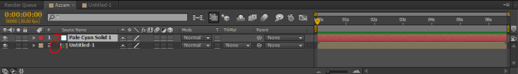 atur urutan layer After Effects