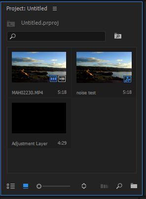 menghilangkan noise video - adjustment layer