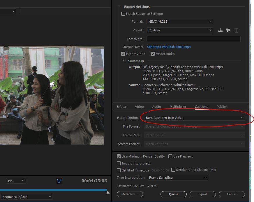 ekspor video dengan subtitle adobe premiere pro - cara membuat subtitle