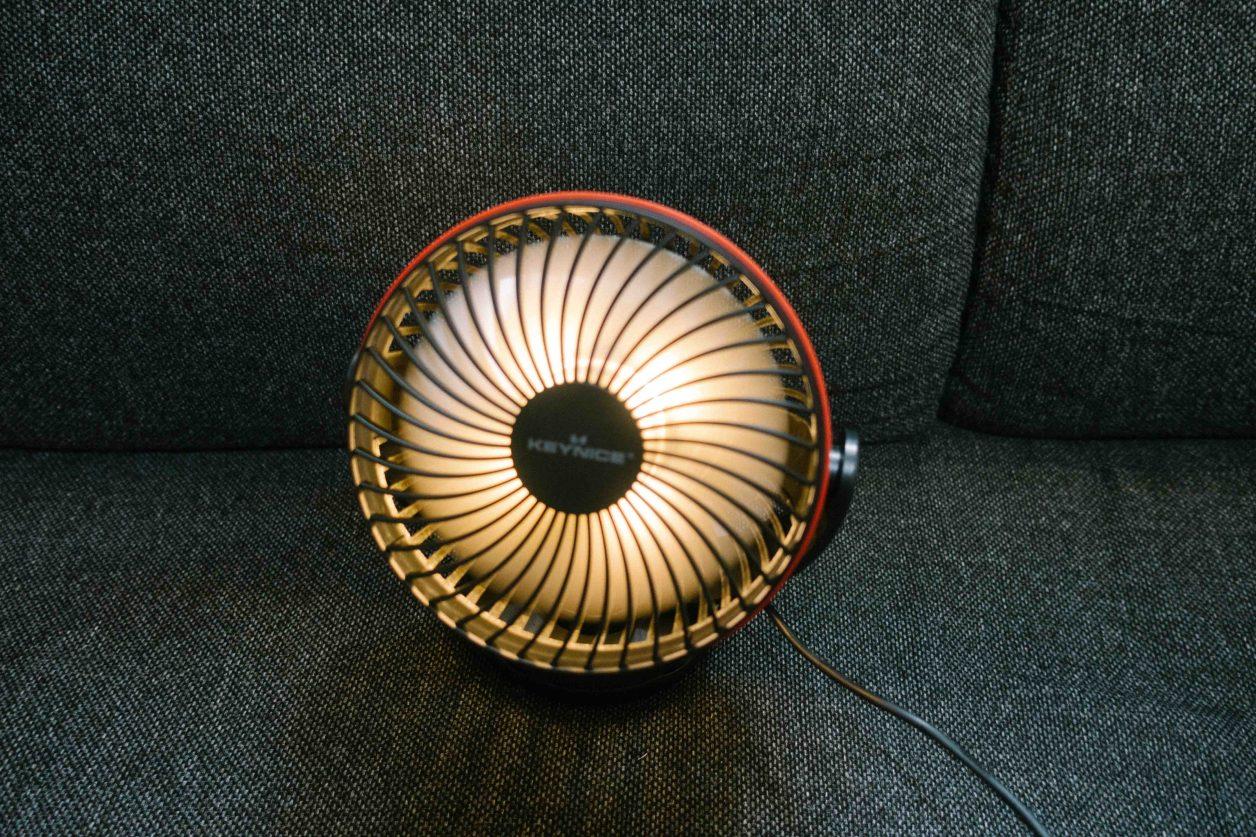 光るミニ扇風機
