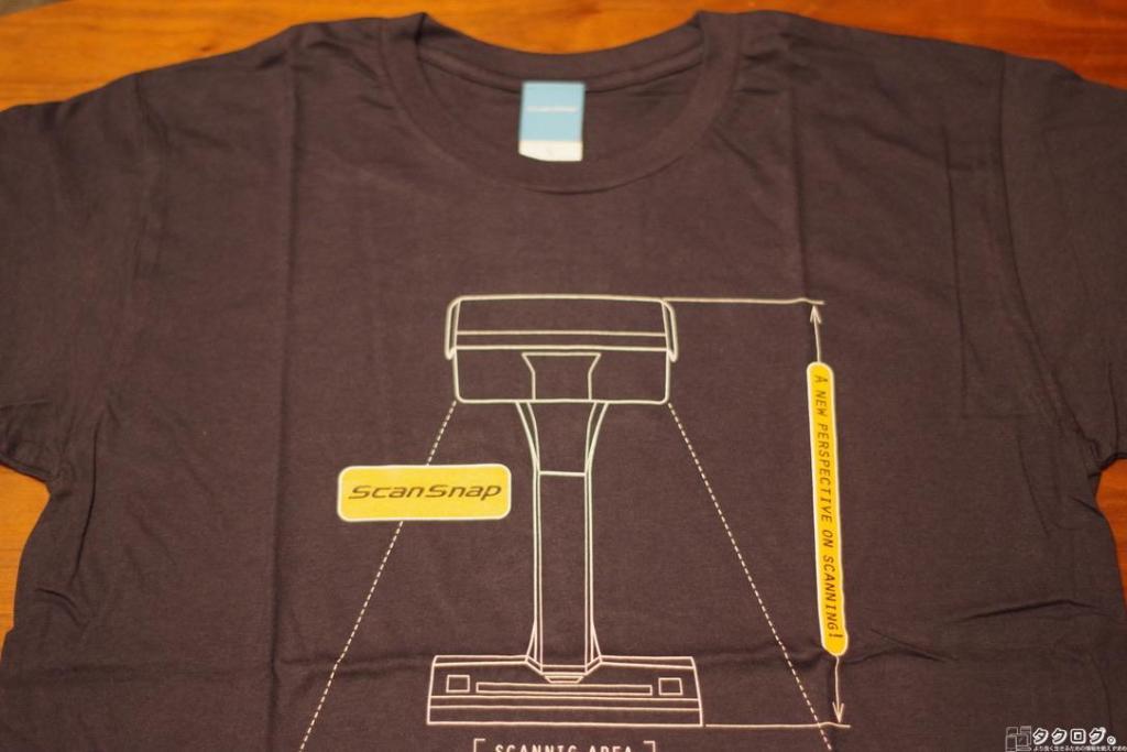 プレゼント抽選会で戴いたScanSnapオリジナルTシャツ