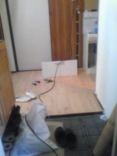 クッションフロアーで床補修