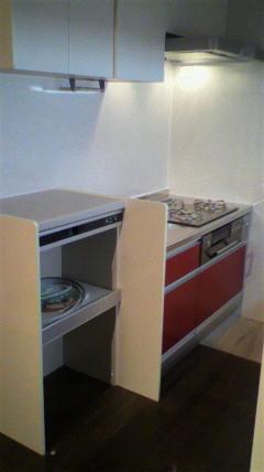 Ⅱ型のキッチンレイアウトコンロ側クリンレディ