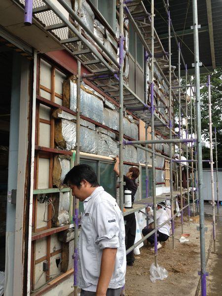 工場外装の改修