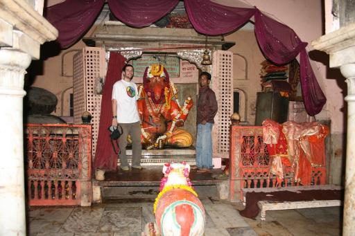 Vins with Ganesha and Indian blind friend