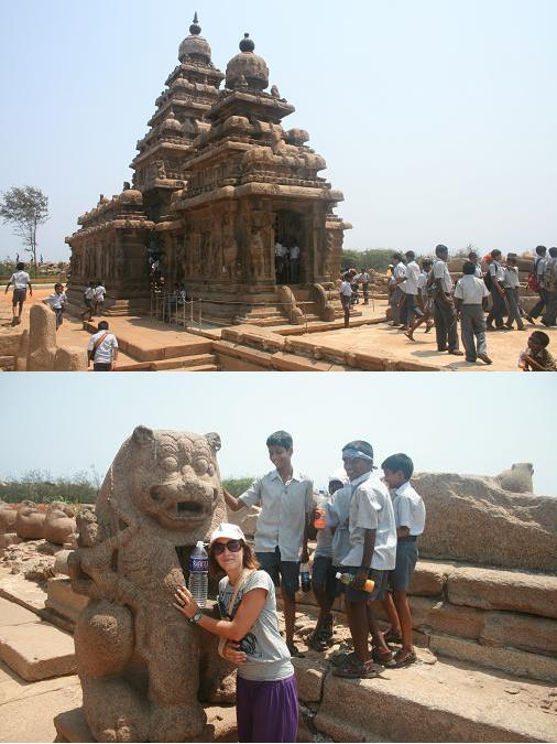 Shore temple with more and more childrens =) @ Mahabalipuram