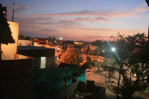 Mahabalipuram by night on the rooftop