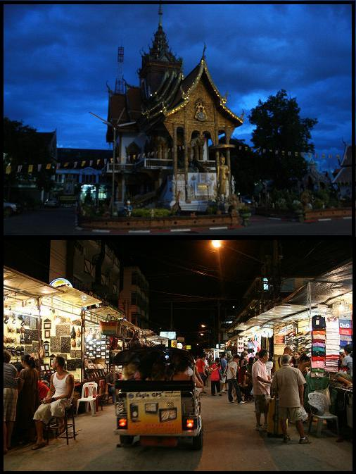 Chiang Mai night market & temple