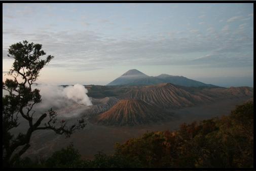 Bromo volcano 6 A.M