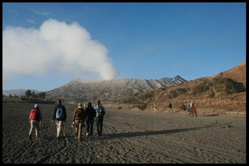 Walk to the volcano