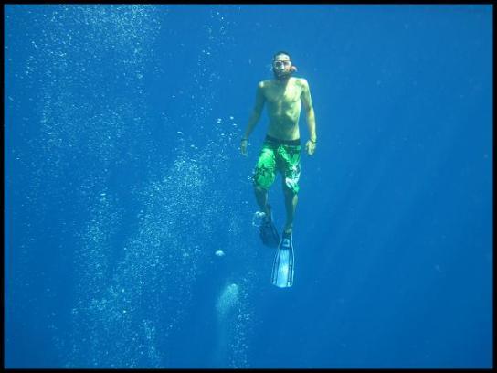 Deep blue sea snorkling