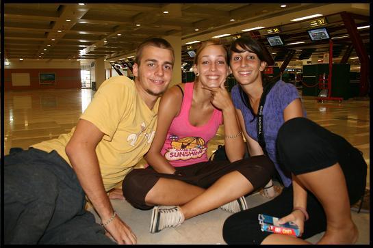 Alexi Anysia Nathalia on the airport