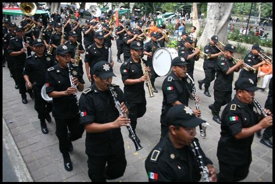 Oaxaca fanfare militaire