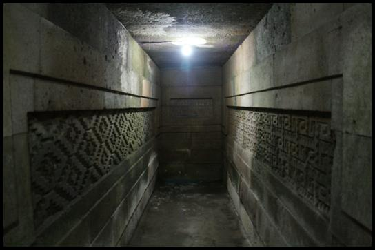 Inside the Mitla ruins