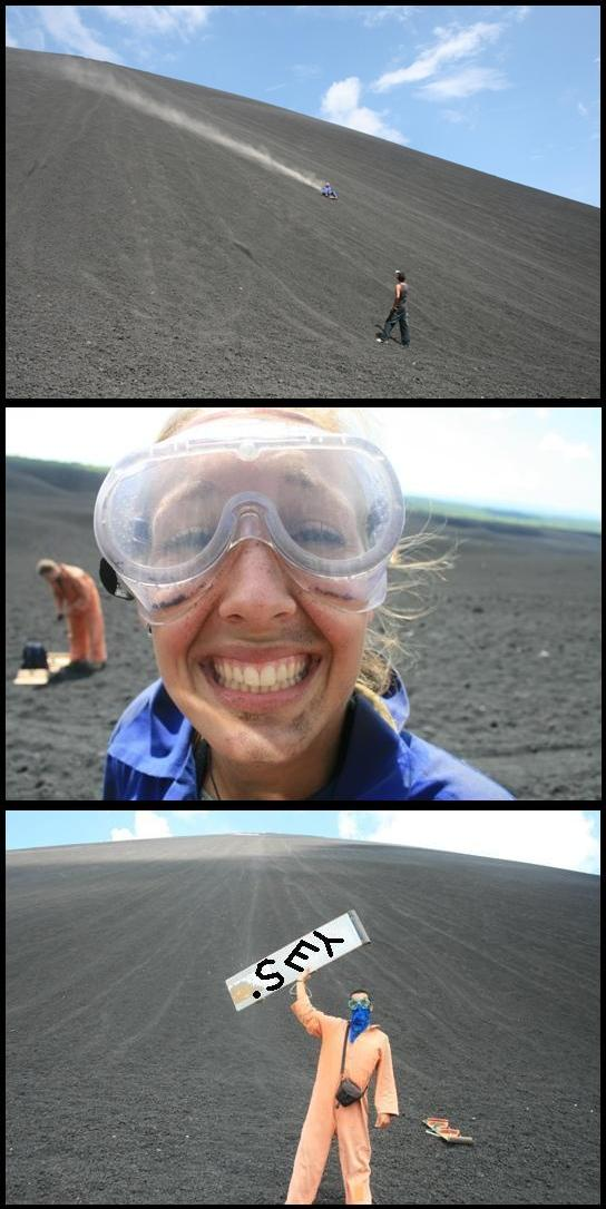 After the cerro negro ride slide