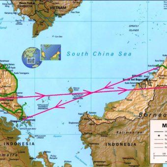Malaysia trip map