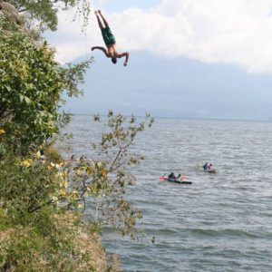 Guatemala cliff jumping