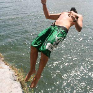 Guatemala cliff jumping backflip