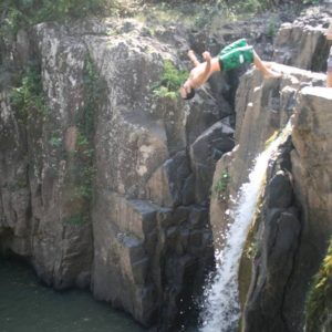Cliff jumping in Panama