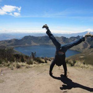 Handstand in Fuya Fuya Ecuador