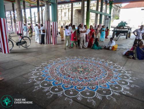 Mandala au sol