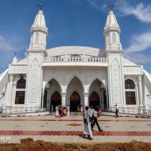 Velankanni white church