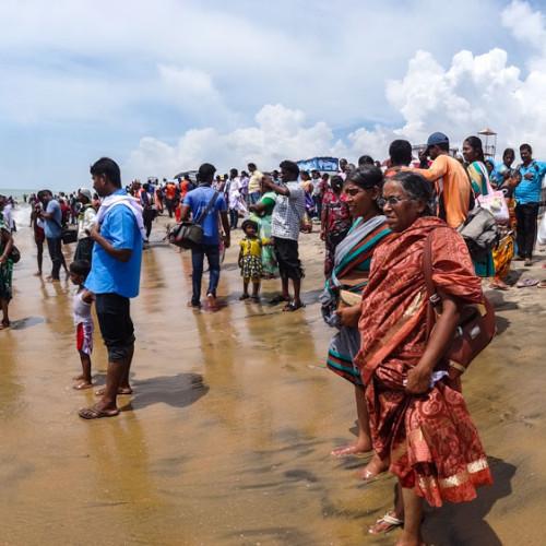 Indian crowded beach