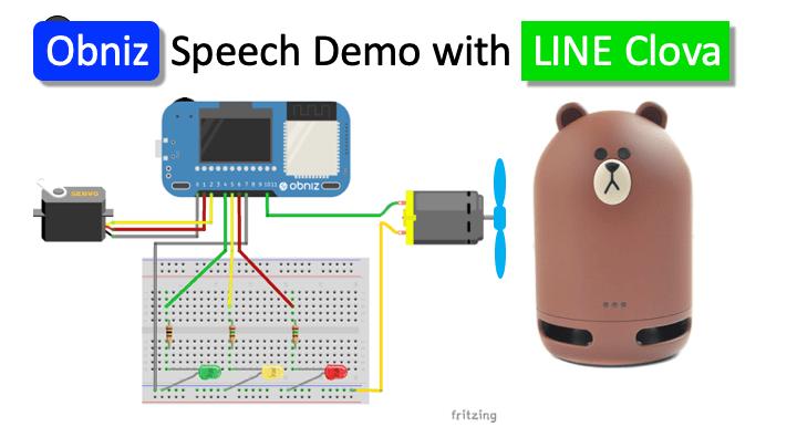 obniz speech demo