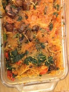 Baked Veggie Spaghetti Squash