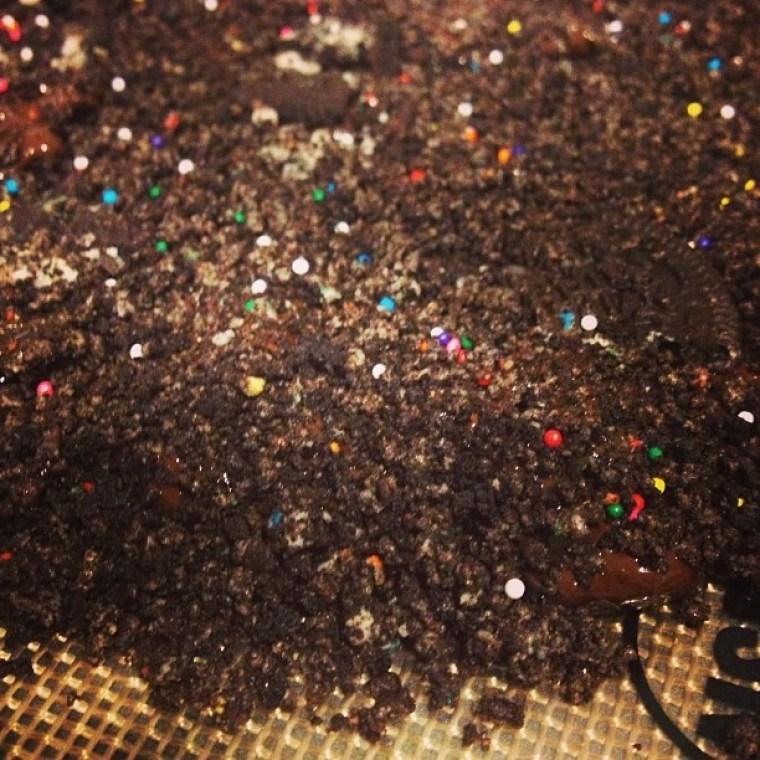 Chocolate Birthday Cake Oreo Bark