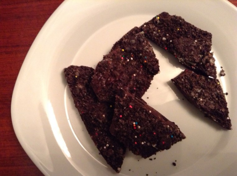 Chocolate Birthday Cake Oreo Bark