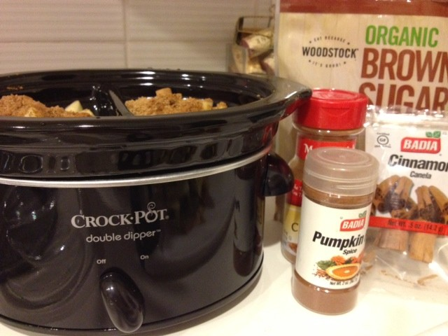 Crockpot Pumpkin Pie Spiced Applesauce #GYCO