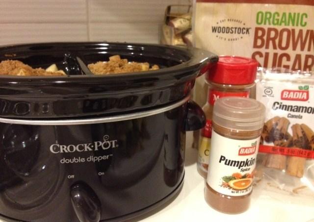 Crockpot Pumpkin Pie Spiced Applesauce #GYCO