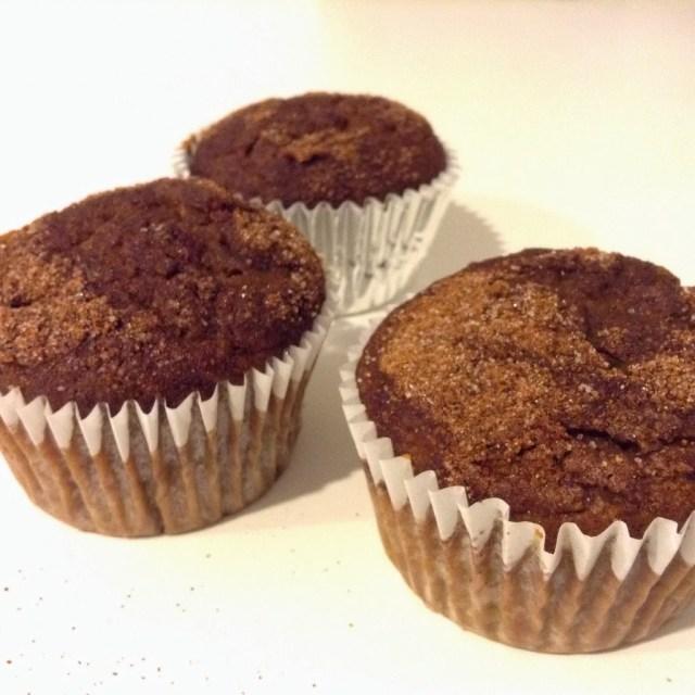 Healthy Chocolate Chai Pumpkin Muffins