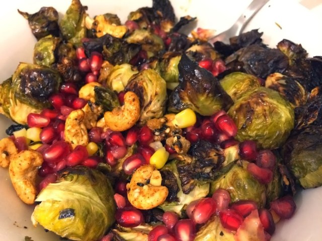 Roasted Brussels Sprouts with Pomegranates #FoodNetworkInspiration