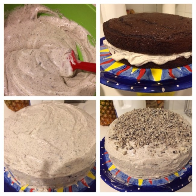 Cookies and Cream Chocolate Layer Cake