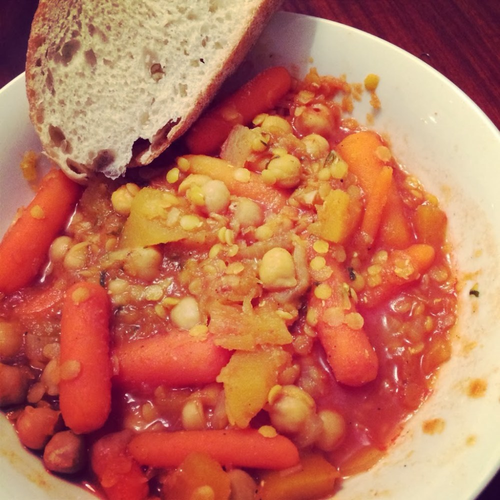 Pumpkin, Chickpea and Lentil Stew for #SundaySupper