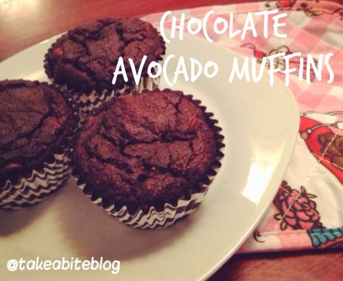 Chocolate Avocado Muffins for #LeftoversClub