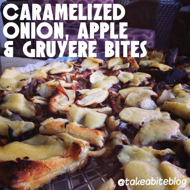 Caramelized Onion, Apple and Gruyere Bites #BrunchWeek