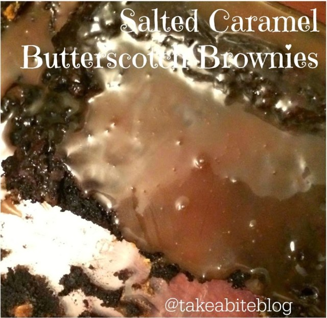 Salted Caramel Butterscotch Brownies #FWCon