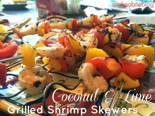 Coconut and Lime Grilled Shrimp Skewers for #SundaySupper
