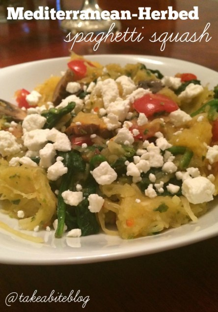 mediterranean-herbed spaghetti squash - take a bite out of boca
