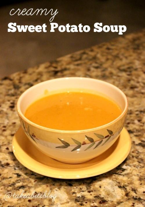creamy sweet potato soup #sundaysupper