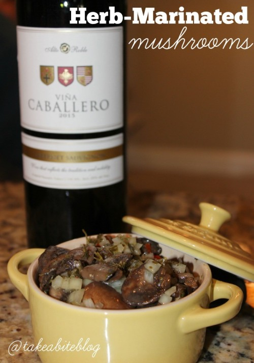Herb-Marinated Mushrooms with Cabernet Sauvignon from Chile #winePW