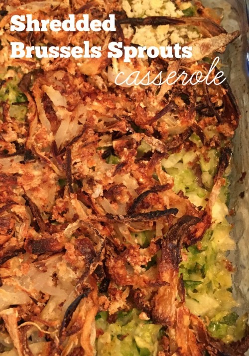 shredded brussels sprouts casserole #sundaysupper