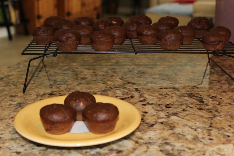 mini chocolate banana muffins #leftoversclub