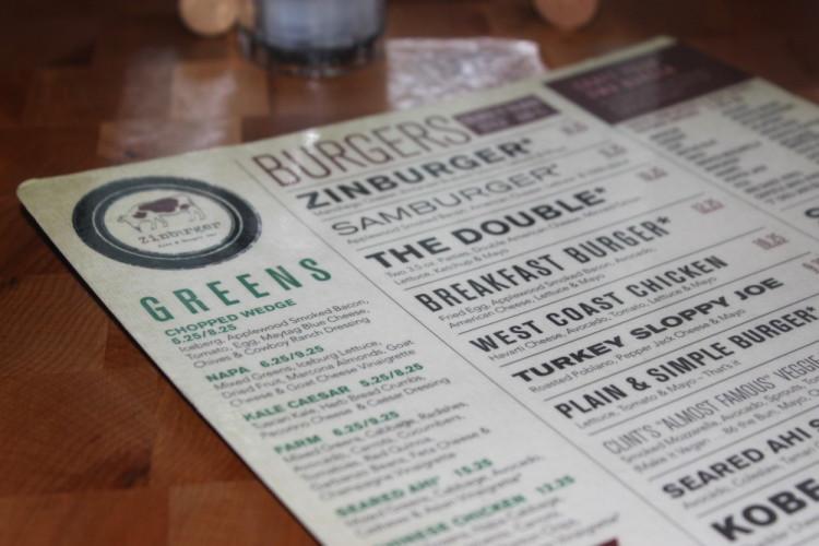 Zinburger Wine and Burger Bar in Boca Raton