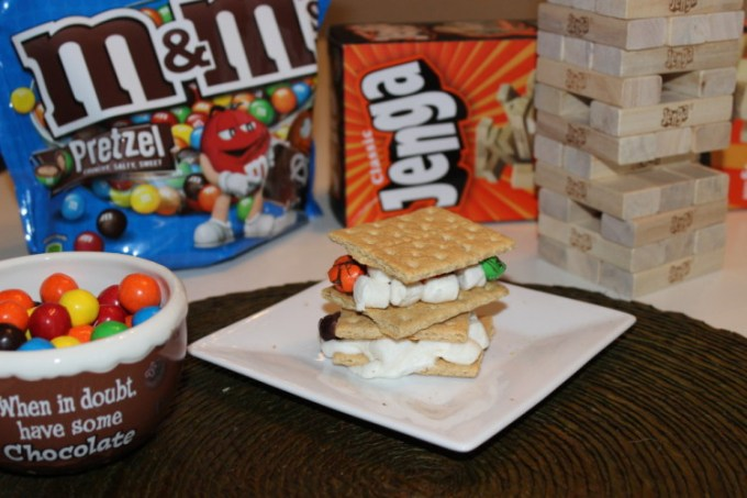 Girl's Night #GameNightIn with Hasbro® and M&Ms®  S'mores