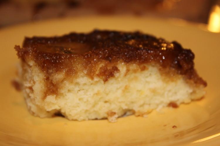 Brown Sugar Banana Upside Down Cake